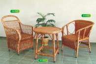 Комплект маса и 2 стола от ракита