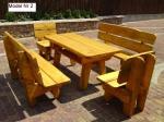 Изработка на дървени маси от масивна дървесина по поръчка за градина