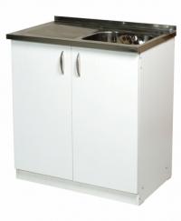Кухненски шкаф с бордова мивка